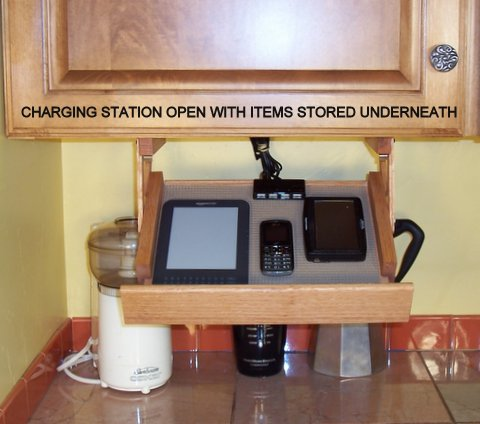 Ultimate Kitchen Storage Charging Station A Bright Idea
